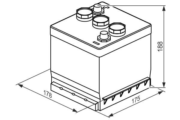 BOSCH Accu / Batterij S3 (0 092 S30 600)