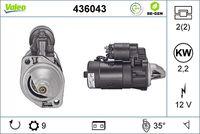 VALEO Startmotor / Starter VALEO RE-GEN REMANUFACTURED (436043)