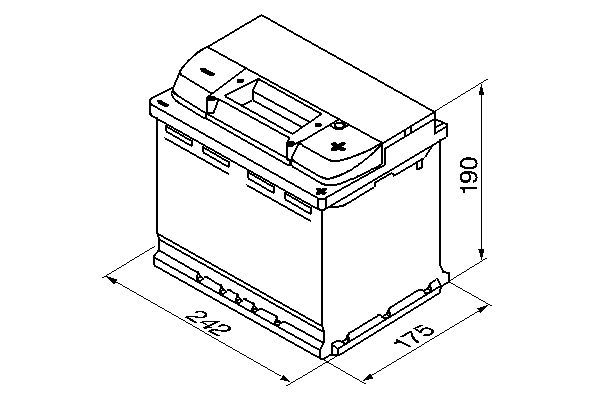 BOSCH Accu / Batterij S5 (0 092 S50 050)