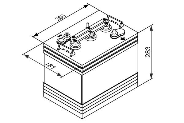 BOSCH Accu / Batterij SLI (0 092 L50 G10)