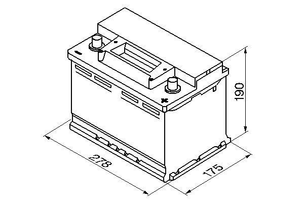 BOSCH Accu / Batterij S3 (0 092 S30 080)