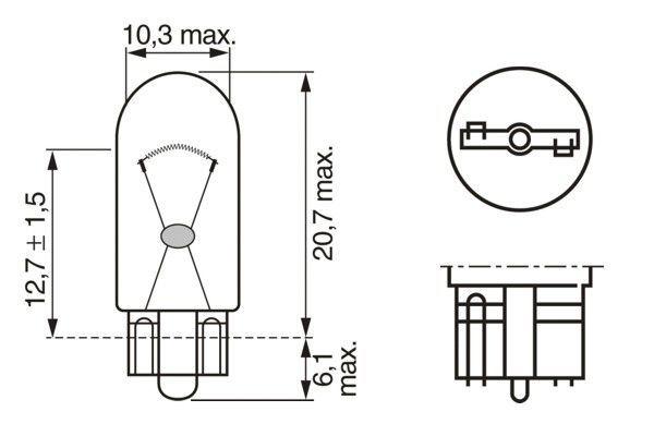 BOSCH Gloeilamp, kentekenplaatverlichting Longlife Daytime BL (1 987 301 052)