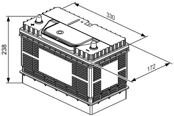 BOSCH Accu / Batterij SLI (0 092 L40 340)