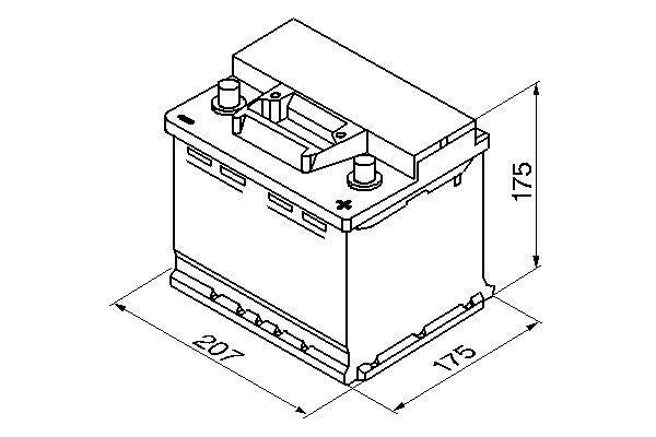 BOSCH Accu / Batterij S3 (0 092 S30 010)
