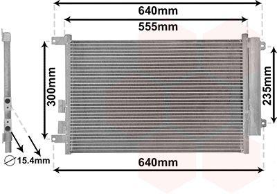 VAN WEZEL Condensor, airconditioning (01005088)