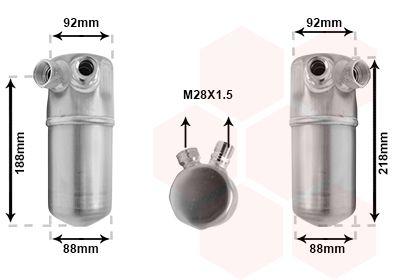 VAN WEZEL Droger, airconditioning (0300D153)