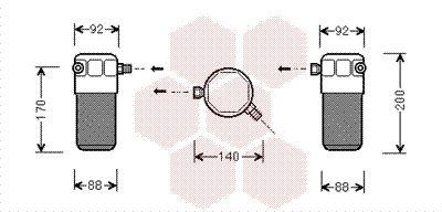 VAN WEZEL Droger, airconditioning (0300D303)