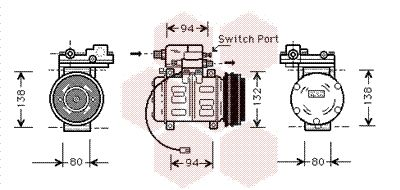 VAN WEZEL Compressor, airconditioning (0300K181)