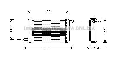 AVA QUALITY COOLING Radiateur (AL2055)