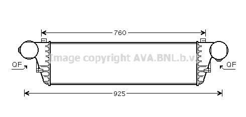 AVA QUALITY COOLING Kachelradiateur, interieurverwarming (FT6106)