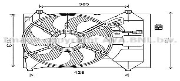 AVA QUALITY COOLING Kachelradiateur, interieurverwarming (FTA6106)